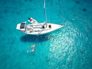 couple-snorkeling-luxury-sailboat