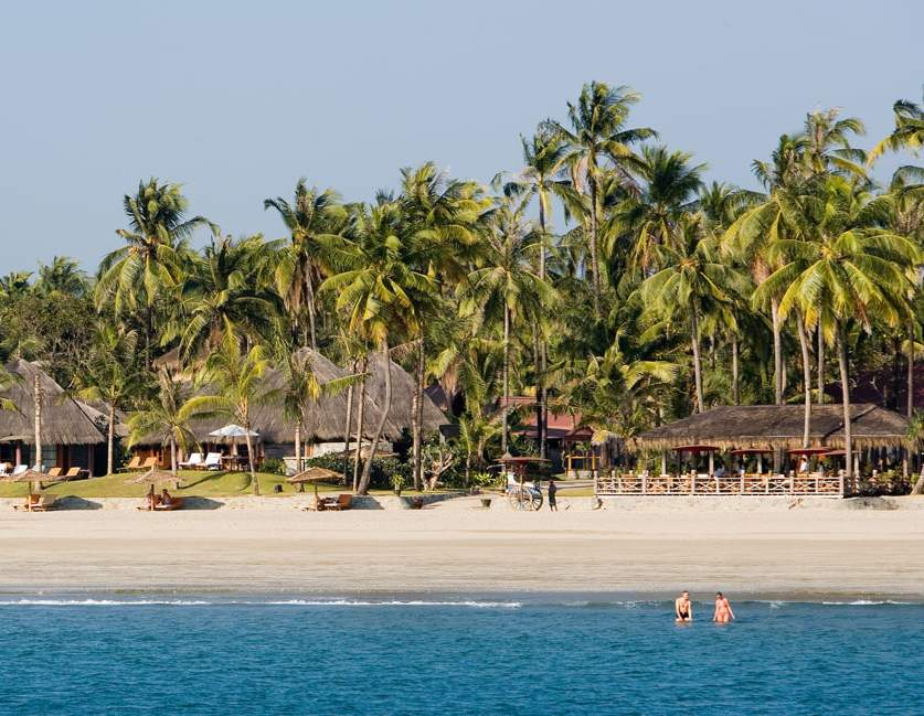 ngwe saung beach resorts and hotels